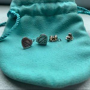 Tiffany & Co mini heart tag earrings